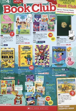 Scholastic Book Club Catalogue